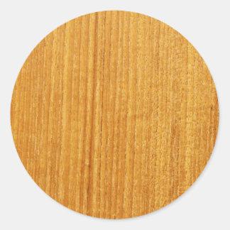Wood kornmönster runt klistermärke