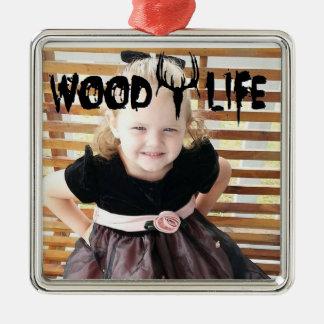 Wood liv julgransprydnad metall