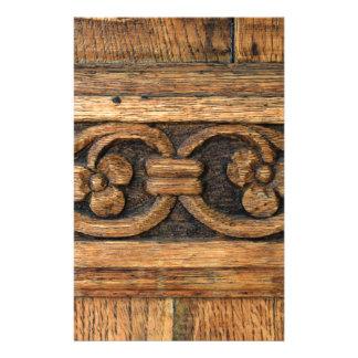 wood panelskulptur brevpapper