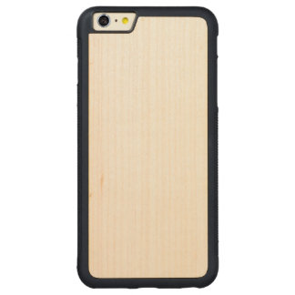 Wood rikligt plusfodral för iPhone 6/6s Carved Lönn iPhone 6 Plus Bumper Skal