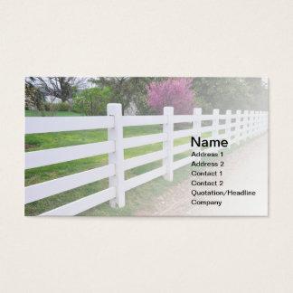 wood staket för lång vit visitkort