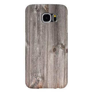 Wood struktur för lantlig Faux Samsung Galaxy S6 Fodral