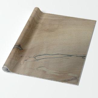 """Wood tryck för lönn som slår in papper, 30"""" x 6', presentpapper"""