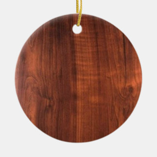 Wood VALNÖTlookKÖP TOMMA Blanc Blanche + TEXT Julgransprydnad Keramik