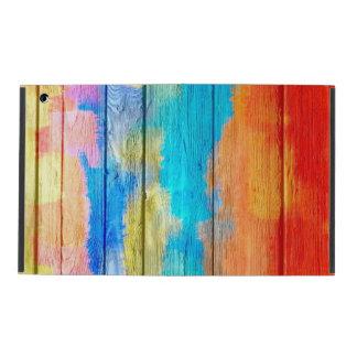 Wood vintage #3 för färgrik målning iPad fodraler