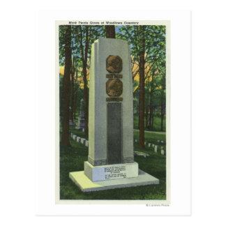 Woodlawn kyrkogård, Mark Twain Gravestoneplats Vykort