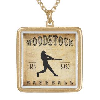 Woodstock Ontario Kanada baseball 1899 Guldpläterat Halsband