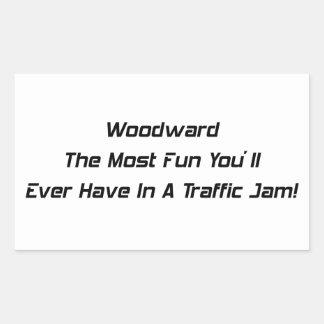 Woodward som de mest roligtdina som någonsin ska, rektangelformade klistermärken