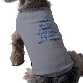 WOOF för vovveLingo -1 =… 2 WOOFS =… Husdjurströja