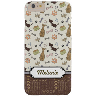 WOOF! Hund älskare - personalizable valpmönster Barely There iPhone 6 Plus Skal