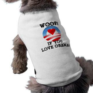 Woof! om du älskar Obama Husdjurströja