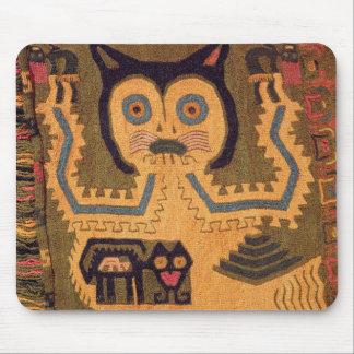 Woollen figur av en jaguar, Paracas kultur Musmatta