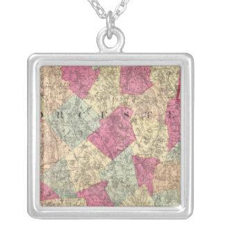 Worcester County Silverpläterat Halsband