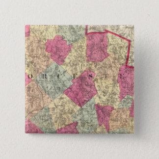 Worcester County Standard Kanpp Fyrkantig 5.1 Cm