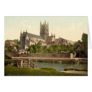 Worcester domkyrka II, Worcestershire, England Hälsningskort