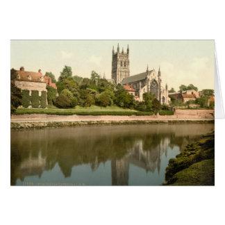 Worcester domkyrka, Worcestershire, England Hälsningskort