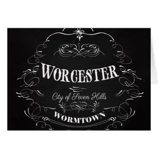 Worcester Massachusetts - stad av sju backar Hälsningskort