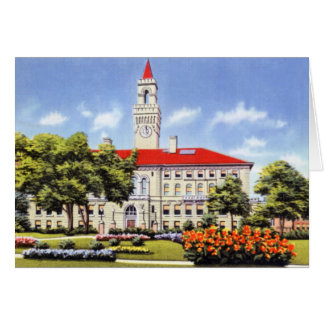Worcester Massachusetts stadshus Hälsningskort