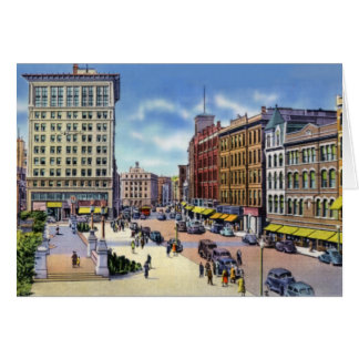 Worcester Massachusetts stadshusPlaza Hälsningskort