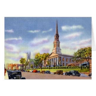 Worcester Massachusetts Unitariankyrka på Hälsningskort