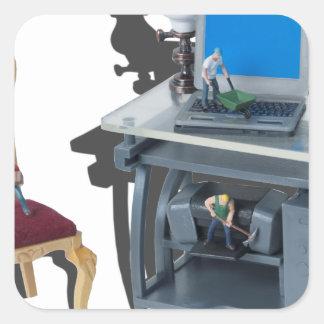 WorkingHardToolsTechnology052714.png Fyrkantigt Klistermärke