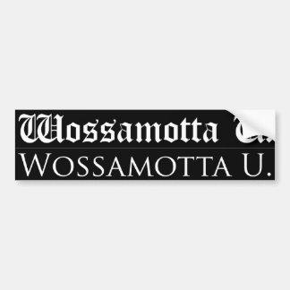 Wossamotta U bildekal (2 stilar per lakan)