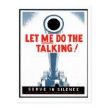 """WPA-affischer - """"låt mig göra den talande"""" vykorte Vykort"""
