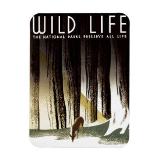 """WPA - """"vilda djur"""" magnet"""