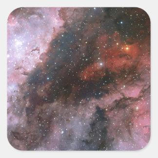 WR 22 och Eta Carinae regioner av den Carina Fyrkantigt Klistermärke