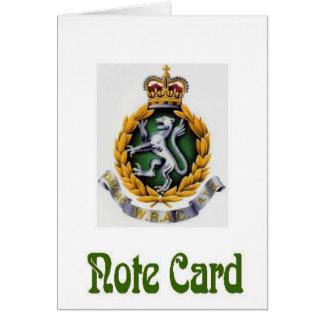 WRAC NoteCard OBS Kort