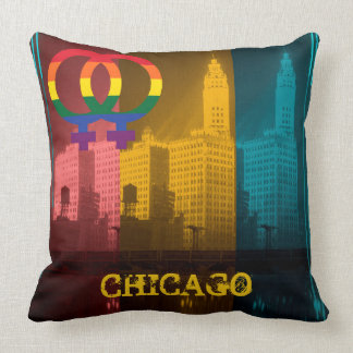 Wrigley för 30-tal för Chicago gay pride lesbisk Kudde