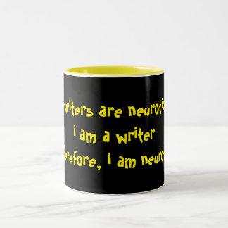 Writers2 är neurotiska Två-Tonad mugg