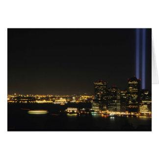 WTC-minnesmärke Hälsningskort