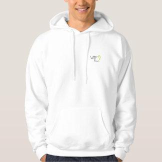 WTF?  brännmärka hoodien! Sweatshirt Med Luva