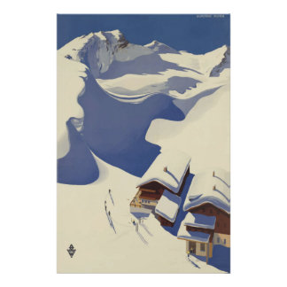 Wunshhelm Österrike vintage resoraffisch Poster