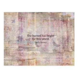Wuthering Heights citationstecken av Emily Bronte Vykort