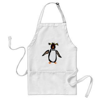 WW-, rolig konst för Rockhopper pingvinurinnevånar Förkläde