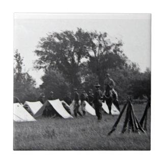 WWI tjäna som soldat kanvastrycket Keramiska Plattor