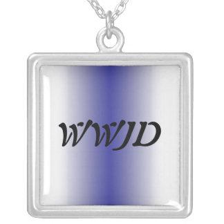 WWJD-halsband Halsband Med Fyrkantigt Hängsmycke