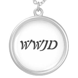 WWJD-halsband Silverpläterat Halsband