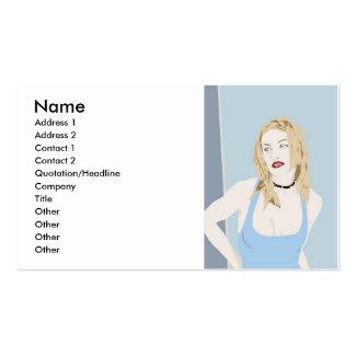 www.Garcya.us _Girls-102, namn, adress 1, Addre… Set Av Standard Visitkort