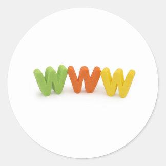 www internet runt klistermärke