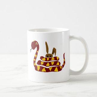WX-, rolig orm som pressar kanintecknaden Kaffemugg