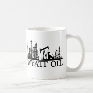 Wyatt olje-/svart logotyp vit mugg