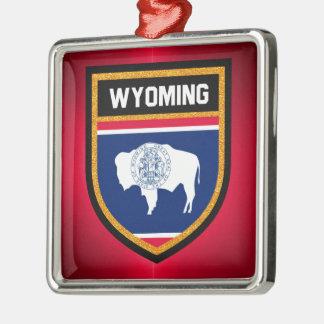 Wyoming flagga julgransprydnad metall