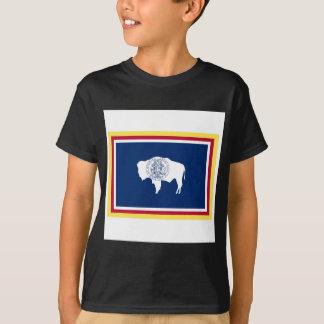 Wyoming flagga t-shirt