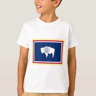 Wyoming flagga tee shirt