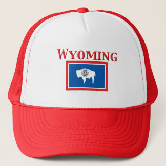 Wyoming flagga truckerkeps