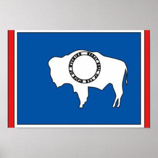 Wyoming flaggakarta poster