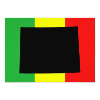 Wyoming med Rasta färger 12,7 X 17,8 Cm Inbjudningskort